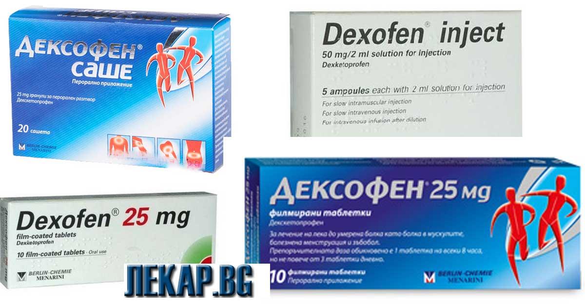 Дексофен след колко време действа?